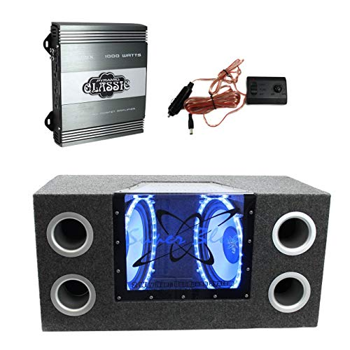 Pyramid 10 in 1000W Subwoofer Bandpass System + PB715X 1000W 2-Channel Amplifier