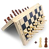 MAGNETIC CHESS:Hand-carved wood chess with magnetic attached to the board, and will not fall off during the game.You can play assured to play the board game on the road,in the car,airplanes or any mobile vehicles. EASY TO CARRY:Lightweight folding bo...