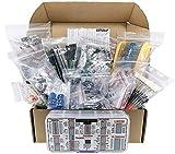 Interstellar Electronics Components Assortment Kit, Grab Bag, IC, Opamp,Resistors, Polyester Capacitors, LED, PCB, Diodes, Transistors, 2000 pcs