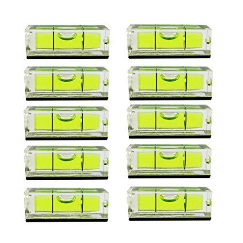 10PCS/Set Magnetic Small Bubble Level 10x10x29mm Frame Mural Hanging Bubble Level Mini Square Spirit Level Picture Hanging Levels Mark Measuring Instruments Layout Tools