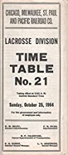 Chicago, Milwaukee, St. Paul and Pacific Railroad Co., Lacrosse Division, Time Table No. 21, Taking Effect...Sunday, October 25, 1964