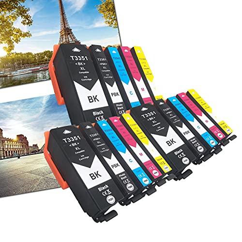 OGOUGUAN 33 XL - Cartuchos de tinta compatibles con Epson Expression Premium XP-530 XP-540 XP-630 XP-635 XP-640 XP-645 XP-830 XP-900 (15 paquetes)