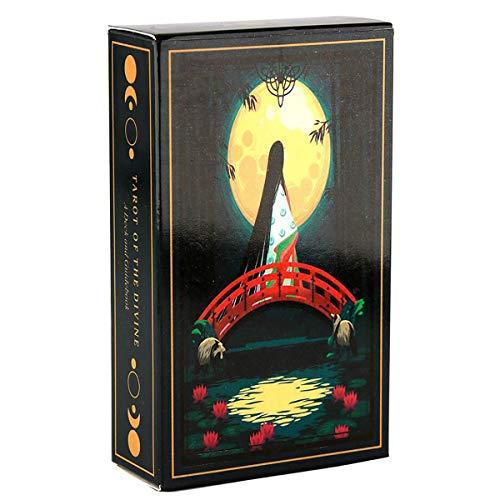 HYXXQQ Tarot Deck Bajo La Luna,Cuentos De Hadas Oráculos,Viaja por El Mundo con El Tarot of Gods (Inglés)