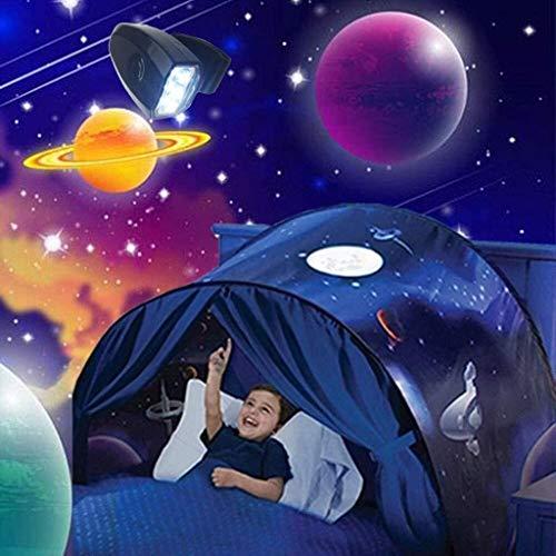 SMLZV Niños de la Tienda, Tienda Sueño Kids Cama (con luz), Niños Deluxe Aventura Espacial Juega Tiendas de campaña Mágico Pop Up Tiendas de campaña Fantasy Playhouse
