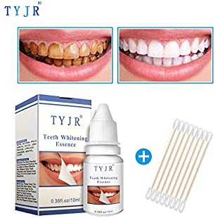 Kashyk Teeth Whitening Liquid + 8 x Disposable Cotton Swabs | Remove Pigment Teeth | Washing Tooth | Teeth Whitening | Dental Plaque | Natural Teeth | Teeth Care | Hygiene Cleaning | 10ML (White)