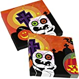 20Servilletas de Halloween para fiesta infantil, cumpleaños, diseño con arañas, calabazas y esqueletos