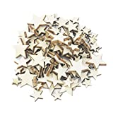 Set di 100 stelle decorative, in legno per scrapbooking, decorazioni
