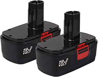 2Pack C3 Battery 3.6Ah Replacement for Craftsman 19.2V Battery DieHard C3 19.2 Volt Power Tools 130279005 130279017 11376 11045 Cordless Drill Drivers