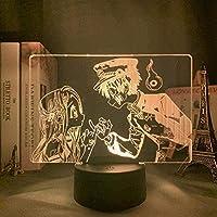 giyiohok3Dナイトライトタッチスイッチテーブルデスクイリュージョンランプ寝室の装飾用アニメライトLedナイトライトバースデーギフト花子くんランプガジェット-7色+タッチ-7色+タッチ