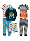Simple Joys by Carter's Baby Boys' 6-Piece Snug Fit Cotton Pajama Set, Monster/Dino, 12 Months