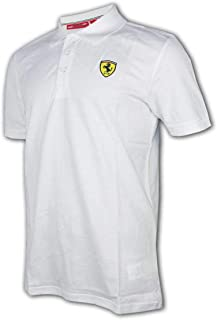 Ferrari Men's Formula 1 2018 Authentic Men's Classic White Polo (XL)