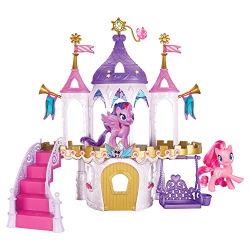 My Little Pony Friendship Castle Playset Including Twilight Sparkle and Pinkie Pie 3-inch Pony Figures with Brushable Hair and 16 Accessories