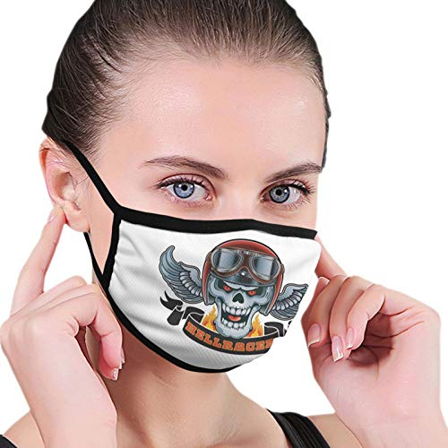 Calavera con casco y gafas Las máscaras masculinas y femeninas son transpirables a prueba de polvo lavables reutilizables al aire libre para acampar en bicicleta viaje de esquí 6.8 * 4.7 Pulgadas
