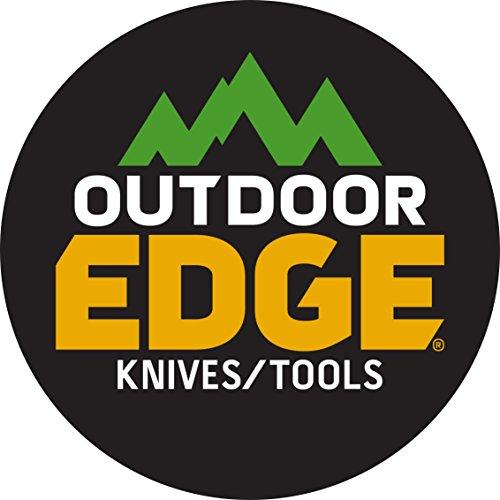"Outdoor Edge RazorPro - Double Blade Folding Hunting Knife with 3.5"" Replaceable Razor Blade, Gutting Blade, Folding Wood/Bone Saw and Nylon Sheath"