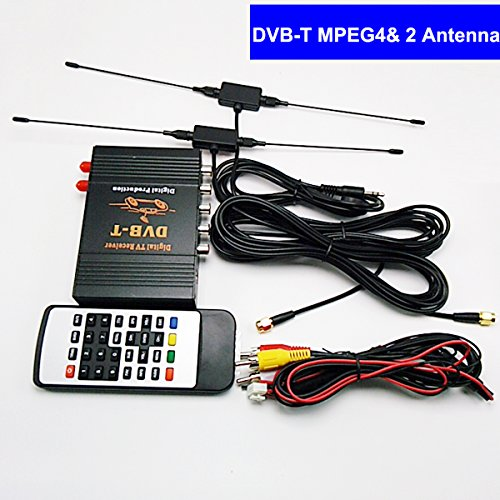 SZSS-CAR 140km / h ~ 190 km / h HD 1080P Car Digital TV(DVB-T MPEG4) Dual Tuner Mobile Digital TV Receiver for France Germany United Kingdom Italy Spain and Europe Country