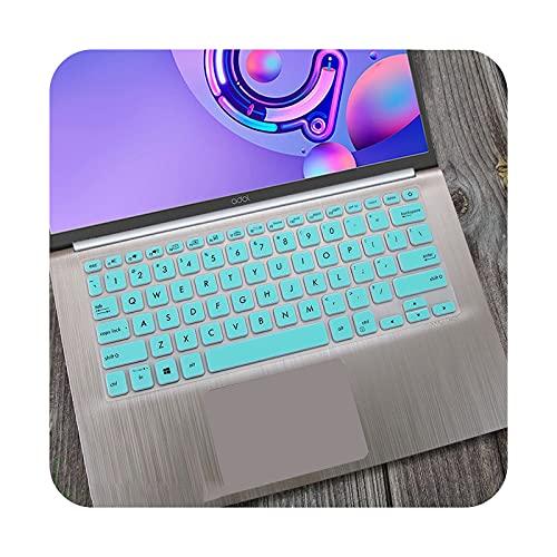 Para ASUS Vivobook 14 X412UA x412fl X412f x412fj x412DA x412ub X412 X412U X412D cubierta del teclado del ordenador portátil Skin Protector 14 pulgadas - blanco azul