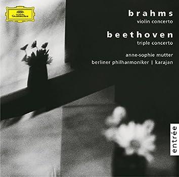 Brahms: Violin concerto, op. 77 / Beethoven: Triple concerto, op.56