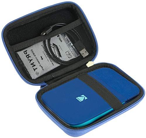 Khanka Hart Tasche Case für Kodak Smile Fotodrucker & Digital Sofortbildkamera Etui Schutzhülle.(Blau/Schwarz)