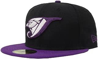 59Fifty Hat Toronto Blue Jays MLB Basic Game Bird Fitted Black/Purple Cap