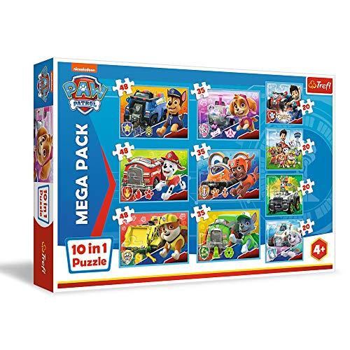 Trefl-Das Team Von 20 bis 48 Teilen, 10 Sets, für Kinder AB 4 Jahren Puzzle, Color el Equipo de Paw Patrol (90355)