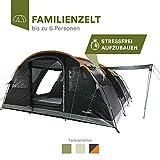 skandika Gotland 6 - Tienda de campaña Familiar - mosquiteras - Suelo Cosido en Forma de bañera - túnel (Verde)