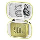 Khanka Duro Viaje Estuche Bolso Funda para JBL GO 2 Altavoz inalámbrico portátil Bluetooth (Bright Green Zip)