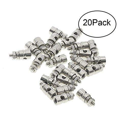 XPURC D1.3mm Pushrod Connector Linkage Stoppers Adjustable Apply to Rc Airplane Replacement parts 20 Pcs