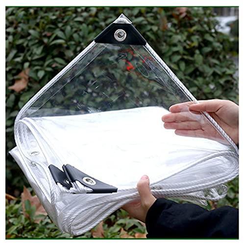 AWSAD Telo Impermeabile Tenda della Pioggia Telo Trasparentes 0,3 Mm PVC Addensato Plastica Impermeabile for Giardino con Balcone Esterno (Color : Transparent, Size : 1.6x3m)