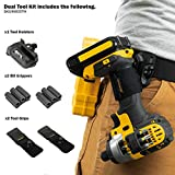 Spider Tool Holster - DUAL TOOL KIT - 5 Piece Set for Carrying Tools and Organizing Drill Bits