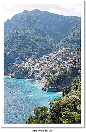 Barewalls Positano Amalfi Coast Paper Print Wall Art (12in. x 18in.)
