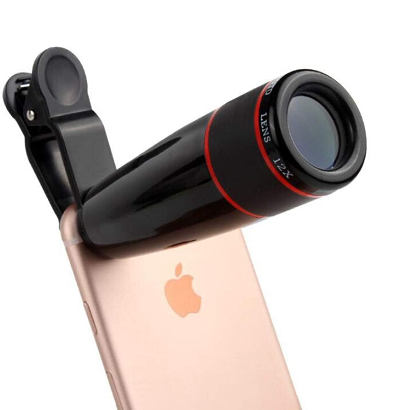 Cell Phone Camera Lens Kit,5 in 1 Lens Kit-High Power 20X Monocular Telephoto Lens, Wide-Angle, Macro, fisheye, Eye mask, Telescope Mobile Zoom Compatible iPhone Samsung Huawei Android Smartphones