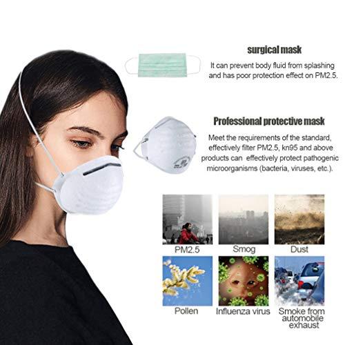 Atemschutzmaske FFP2 Maske Atemschutz Mundschutz Atemschutzmaske zur Prophylaxe Schmierinfektionen & Tröpfcheninfektionen (1PCS) - 7