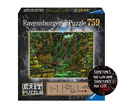 Collectix EXIT 759 Teile Ravensburger Puzzle 199518 - Exit 2: Tempel in Angkor Wat, ab 12 Jahren + 1x Exit-Sticker Sometimes You Win..