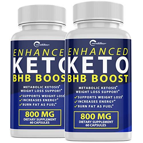 Enhanced Keto BHB Boost Pills, 800mg for Weight Loss, Keto BHB Pills for Energy, Focus, Metabolism Boost - Premium Advanced Powder Exogenous Ketones for Rapid Ketosis Diet for Men Women (1-Pack) 3