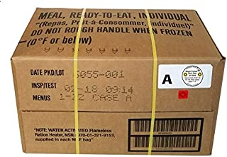 Western Frontier MRE 2018 Inspection Date Meals Ready-to-Eat, Case of 12 Genuine US Military Surplus