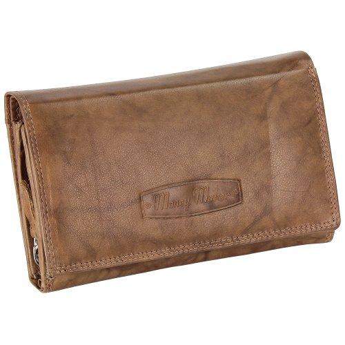Ledershop24 RFID Damen Leder Geldbörse Damen Portemonnaie Damen Geldbeutel - Lang Natur Leder - Geschenkset + exklusiven Schlüsselanhänger