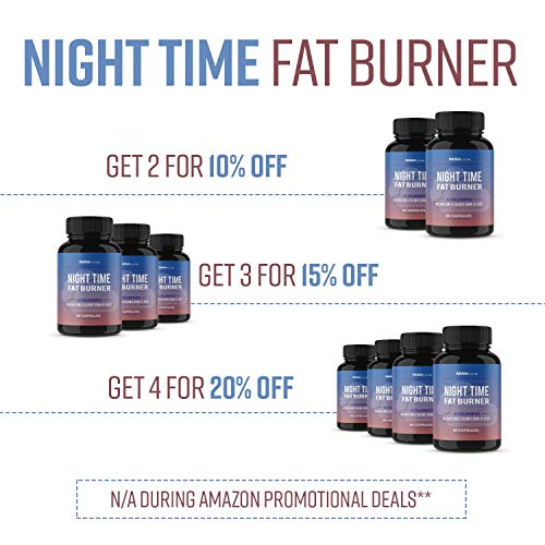 MAV Nutrition Weight Loss Pills Fat Burner for Night Time as Appetite Suppressant and Metabolism Boost, 60 Count 8