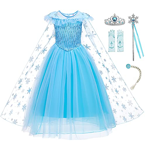 guest dream Girls Princess Dress Birthday Costumes Christmas with Gloves, Crown, Wand, Accessories