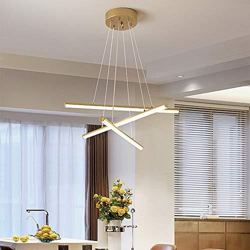 Lampadario A LED Lampadario in Acrilico Oro/Nero (3 Tonalità Di Luce) Illuminazione Ristorante Lampadario Camera Da Letto Soggiorno Luce Bianca/Luce Calda,D'oro