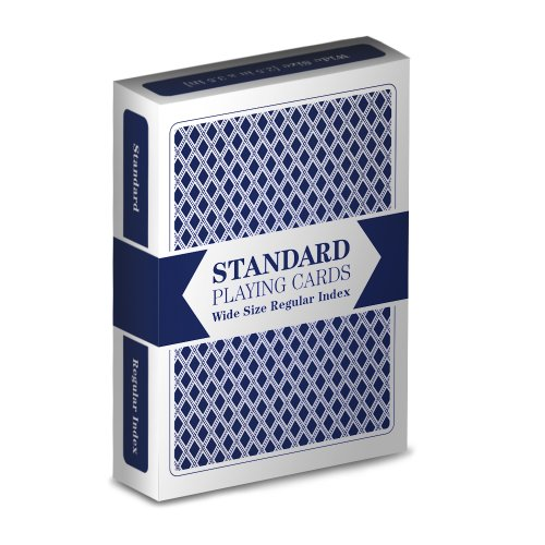 Single Blue Deck Standard Playing Cards (Wide Size, Regular Index)