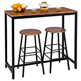 Bonnlo 3 Piece Counter Height Table Set Kitchen Bar Table...