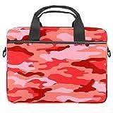 Borsa per computer portatile Rosa Camo Militare Notebook Sleeve con Maniglia 13-14,5 cm Borsa a tracolla Valigetta