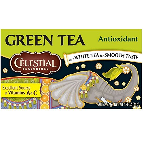 Celestial Seasonings Antioxidant Green Tea Bags 20 ea (Pack of 6)