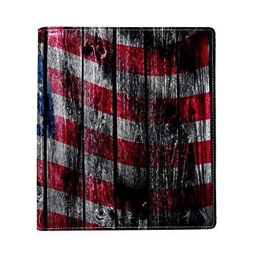 De USA Vlag Geschilderd Op Houten PadPU leer, enkelzijdig bedrukken, polyester boek-gevoerde grote boekomslag