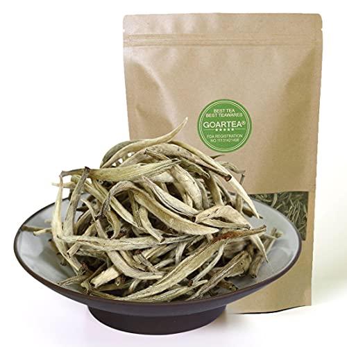GOARTEA 250g (8.8 Oz) Supreme Chinese Organic Bai Hao Yin Zhen BaiHaoYinZhen Silver Needle White Loose Tea Tee