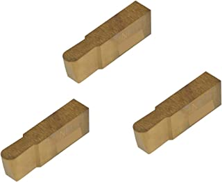 Grooving Insert for Stainless Steel Without Interrupted Cuts Full Radius TiN Coated Carbide THINBIT 3 Pack XGI130D5FRC 0.130 Width 0.250 Depth