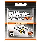 Gillette Contour Plus Recambio de Maquinilla de Afeitar para Hombre 10 Recambios