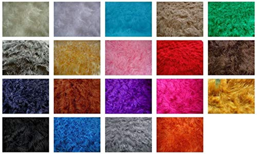 Fabrics-City % SCHWARZ TEDDY LANGHAAR FELL STOFF FELLIMITAT STOFFE, 2710
