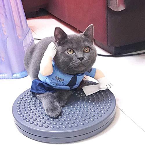 zyy Haustier-Kleidung, Katze Polizei Kostüm Katze Uniform Polizist Outfits Mit Hut Haustier Kostüme Verkleiden Outfit Kleidung Kleidung Für Katze Hündchen,Blau,XL
