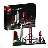 Lego 21043 Architecture San Francisco Skyline-Kollektion, Baumodell mit Golden Gate Bridge und Alcatraz Island, Geschenkidee für Sammler
